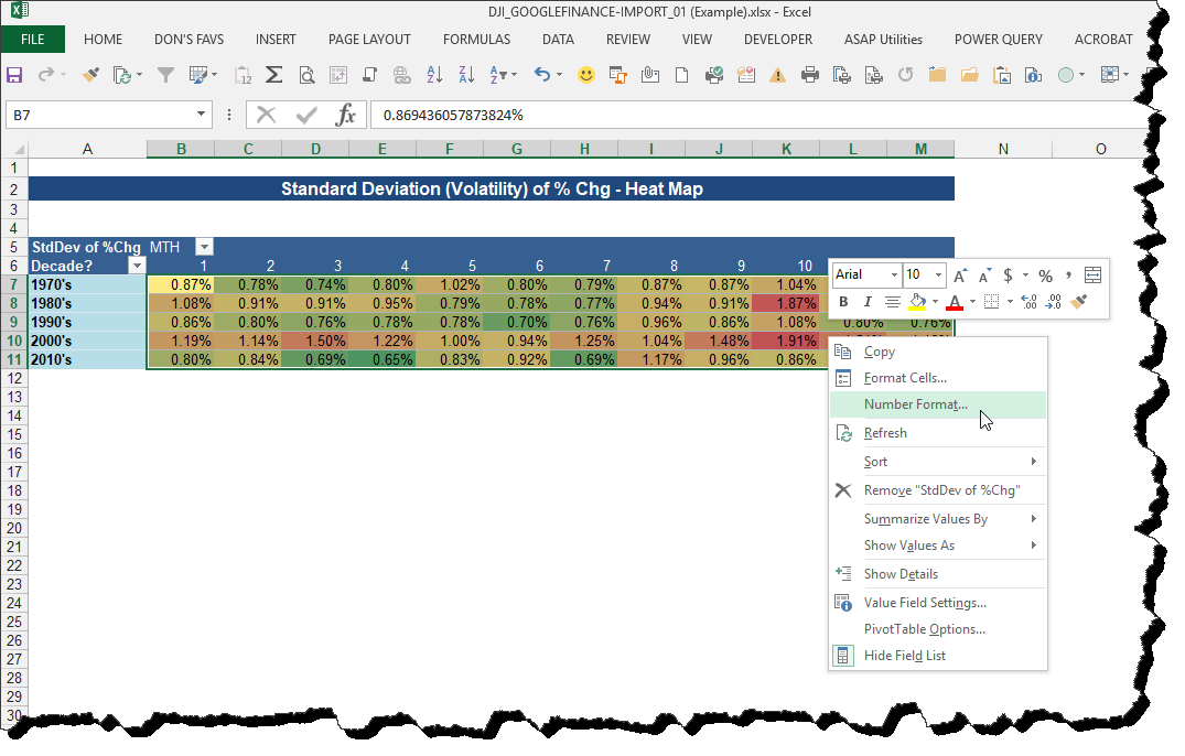 "Microsoft Excel: Create A ""Heat Map"" in Excel Using"