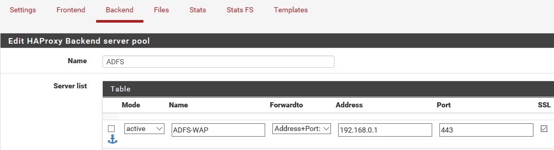 Publishing ADFS through pfSense with HAProxy - Contosio Labs