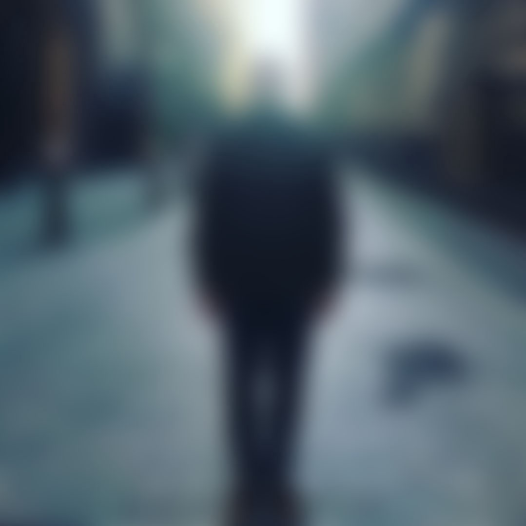 The author blurred out in an empty London street