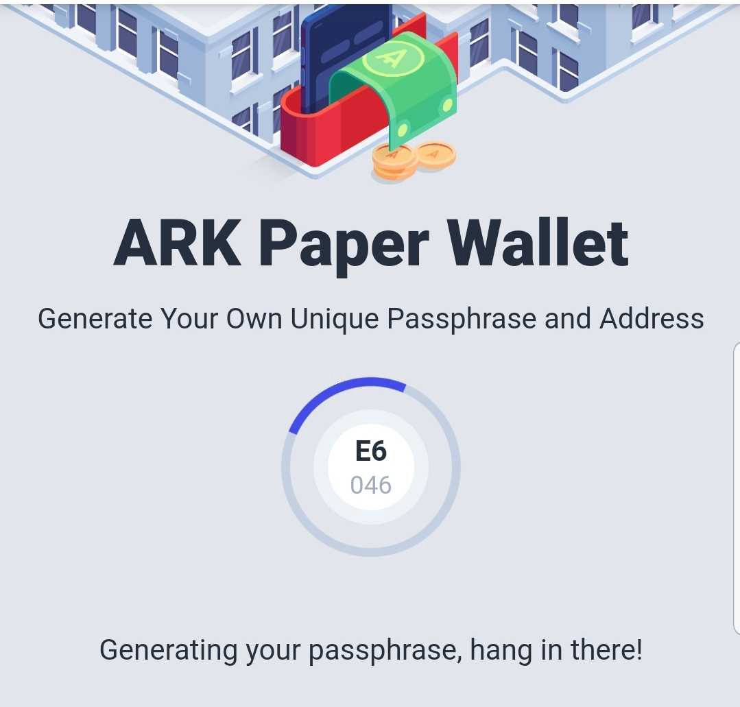 New paper wallet works normally on mobile phones