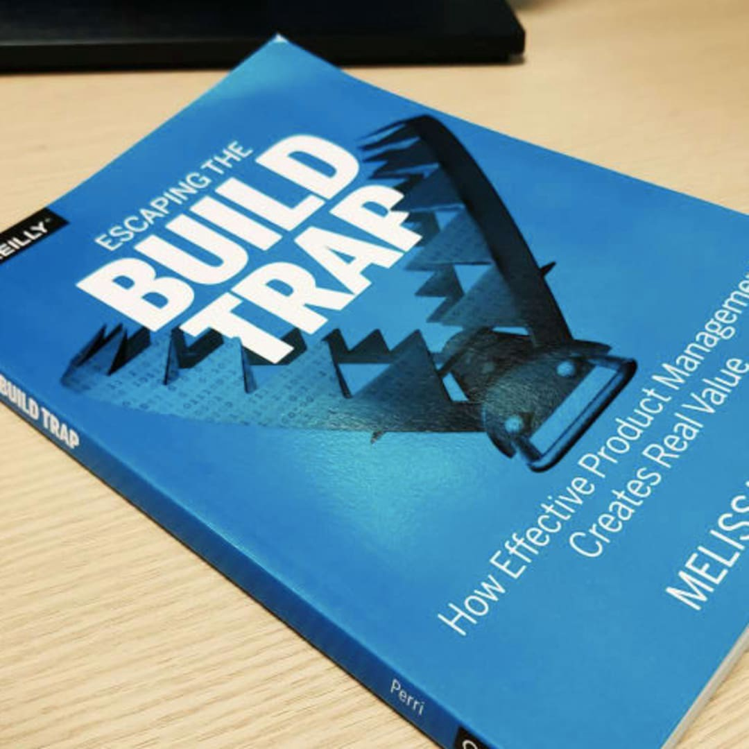 The book escaping from the build trap on a table