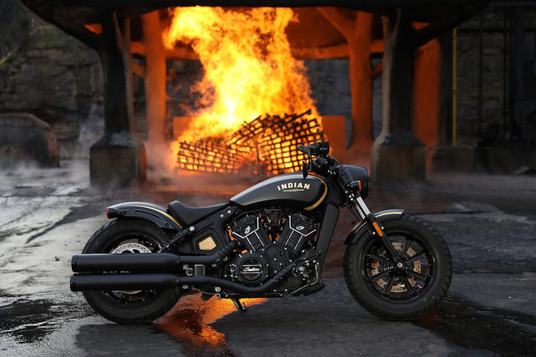 Indian Scout Bobber Limited Edition Jack Daniel S By Nate Renchlist Medium