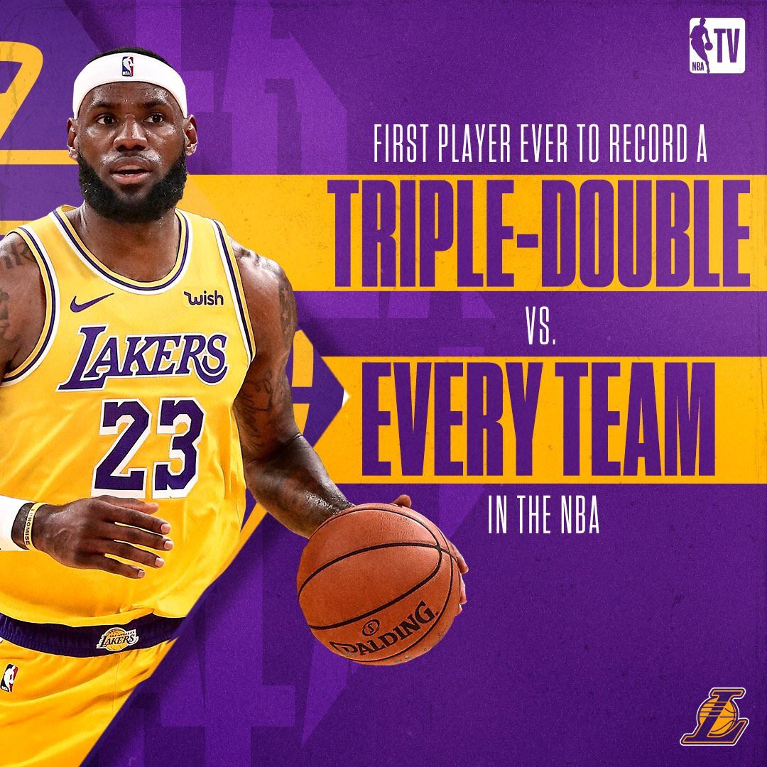 Image result for LeBron James completed his triple-double collection