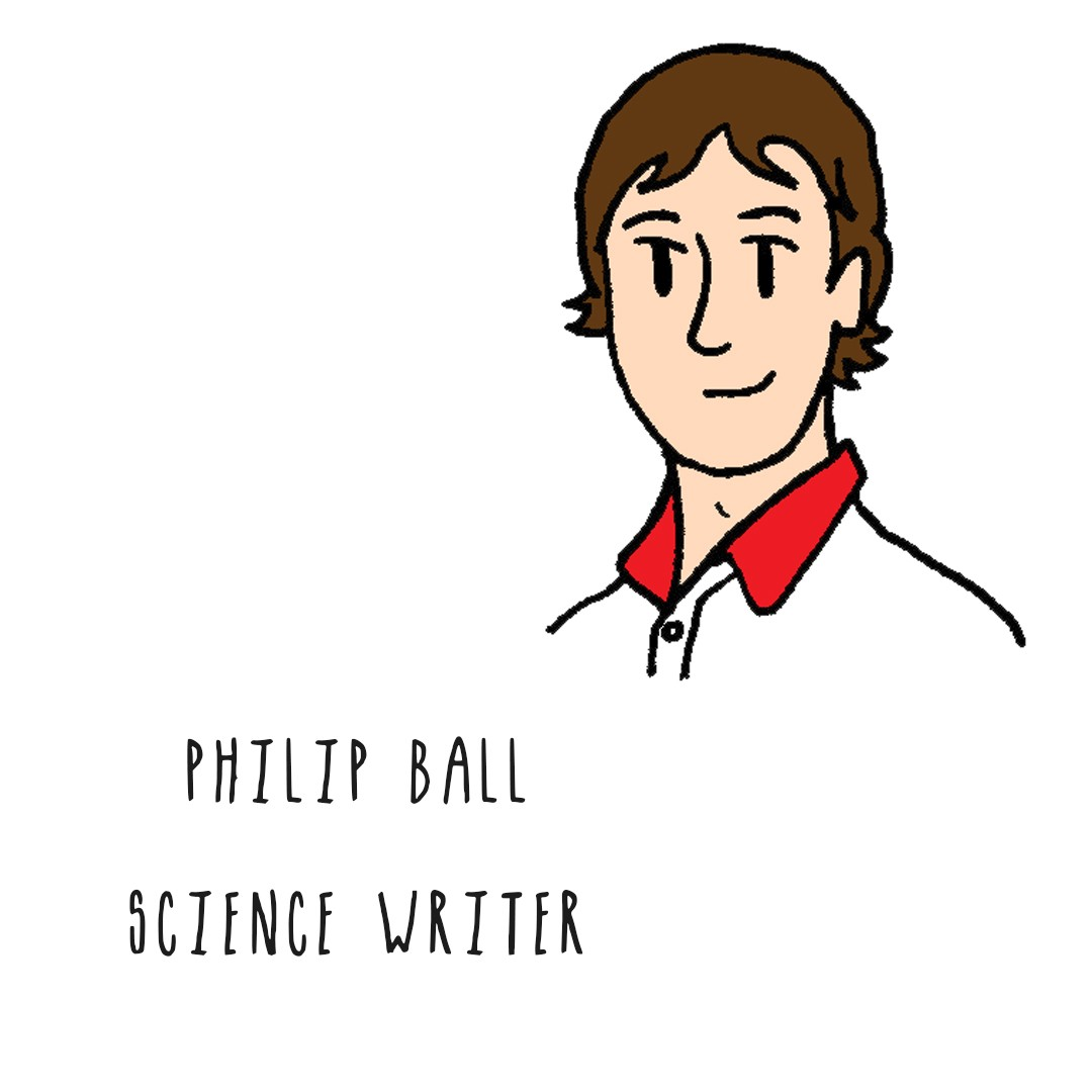 Image of a man with brown hair: Philip Ball, Science writer.