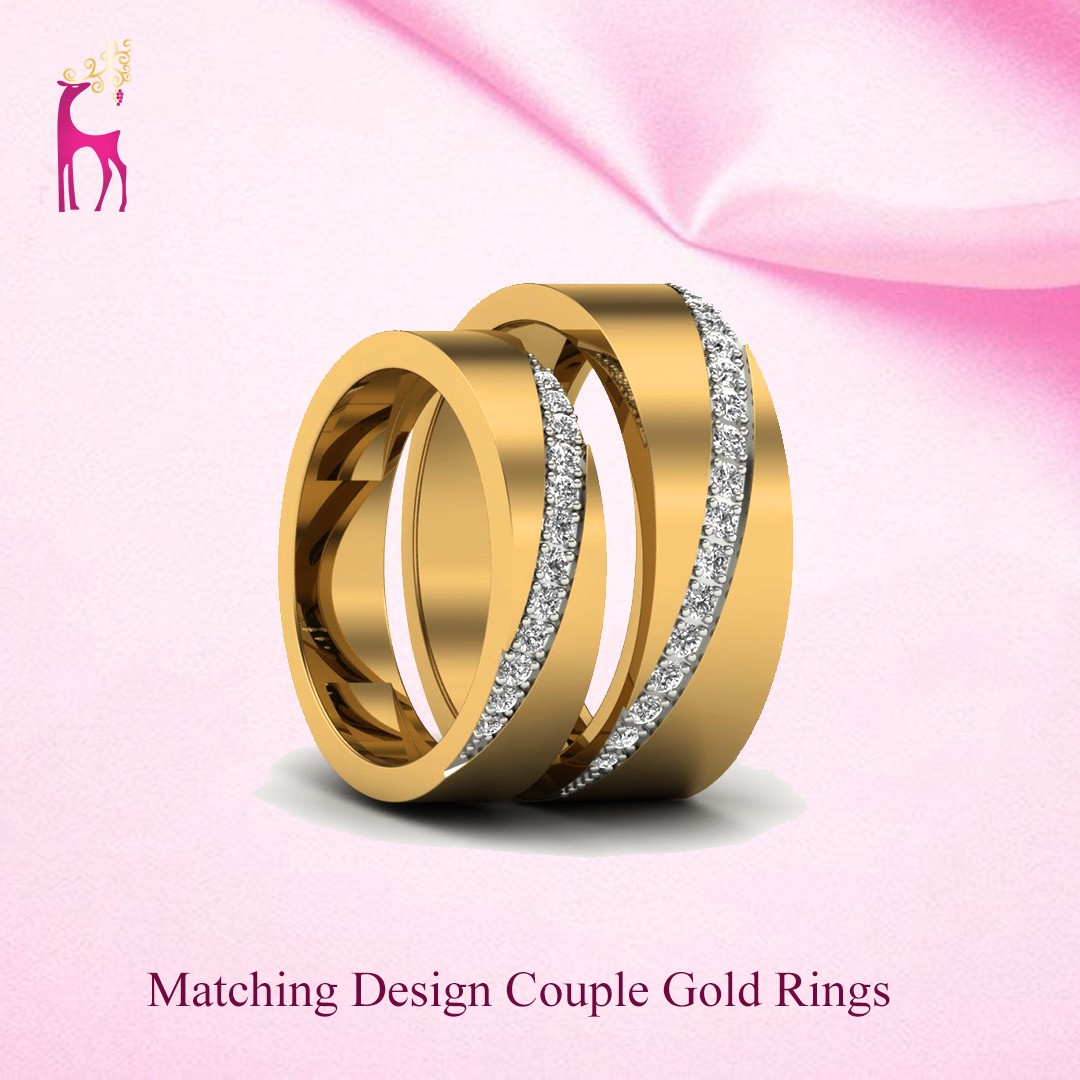 Matching Pair Couple Gold Rings Designs In India By Varpearti Medium
