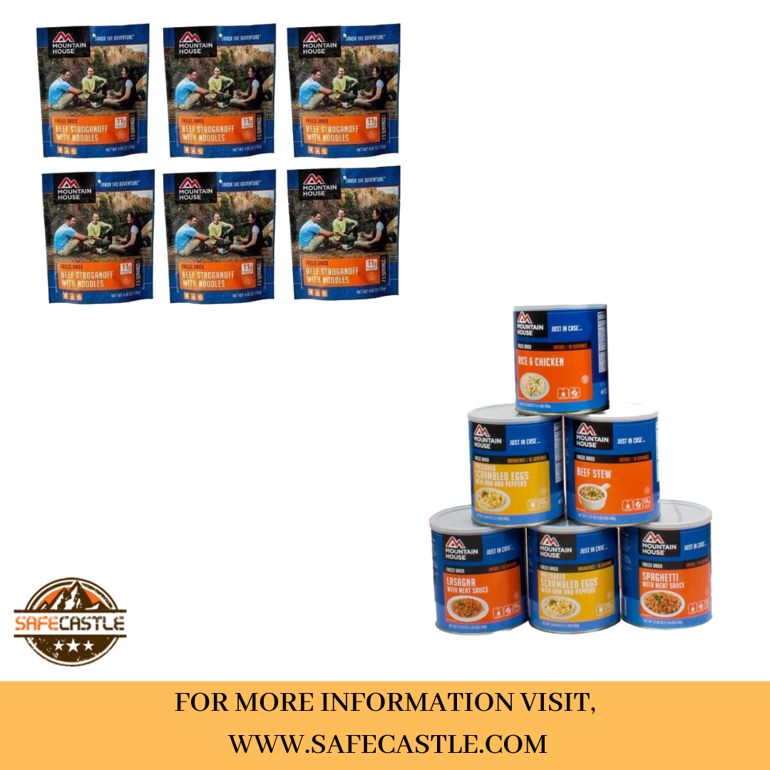 FREEZE DRIED MEALS FOR EMERGENCY BAG