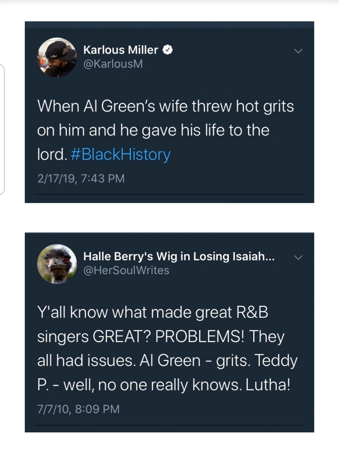 Al Green And Hot Grits Is Black History As Fuck Blackstew Medium