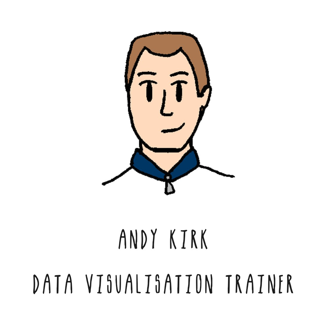Image of a man with buzz cut: Andy Kirk, Data Visualisation Trainer.