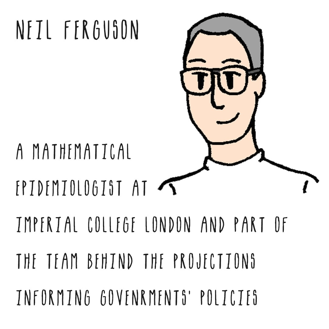 Neil Ferguson, mathematical epidemiologist Imperial College London & team behind projections informing governments' policies.