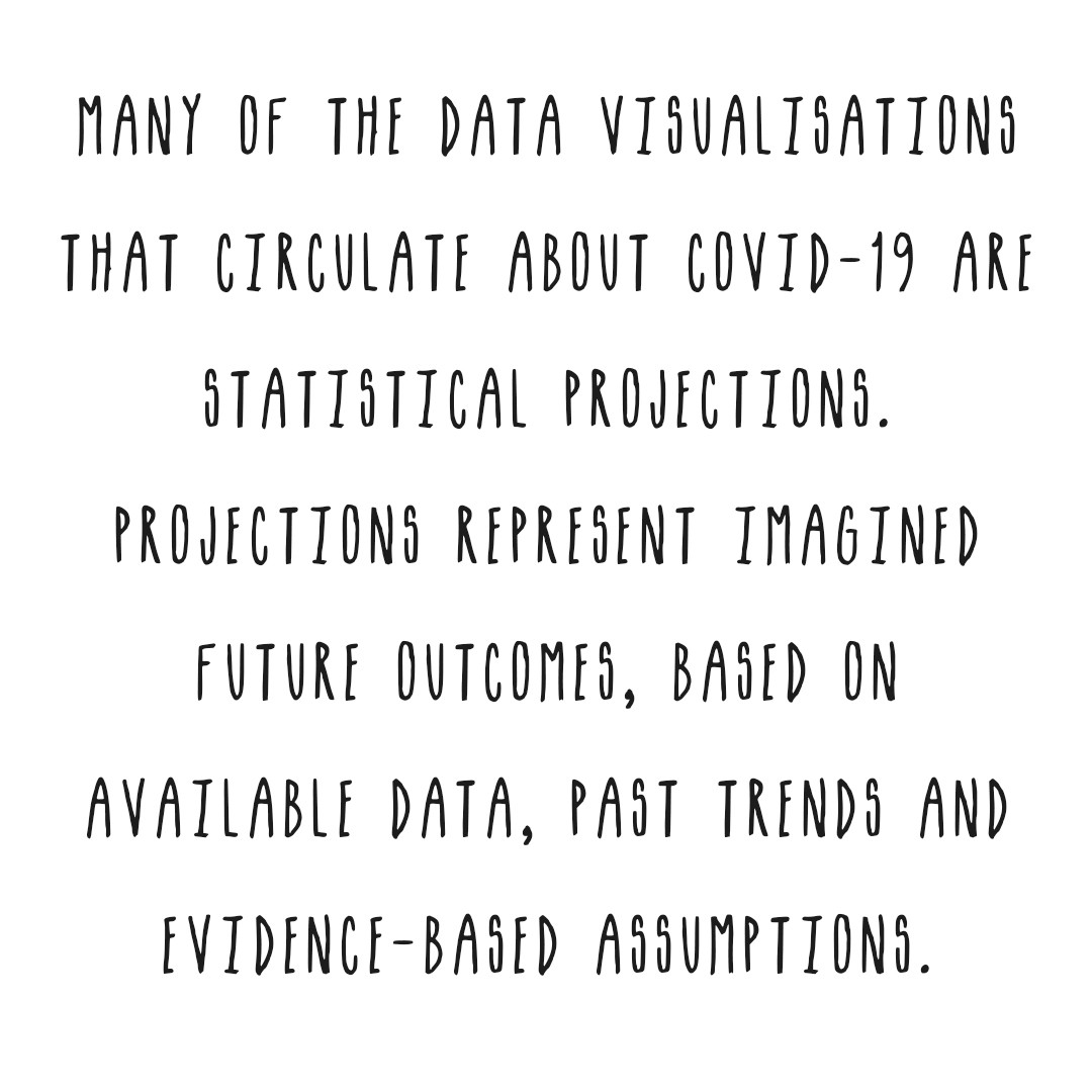 Many of the visualisations show future outcomes. this is based on avaialbe data, past trends and evidence based assumptions.
