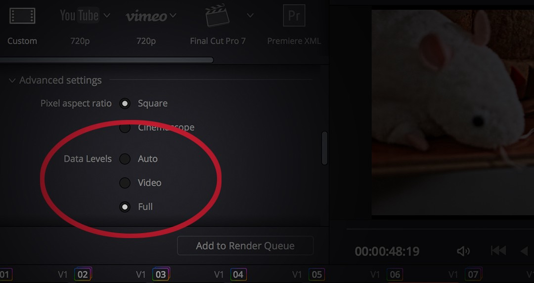 How to export DNxHD / HR from DaVinci Resolve and not wash
