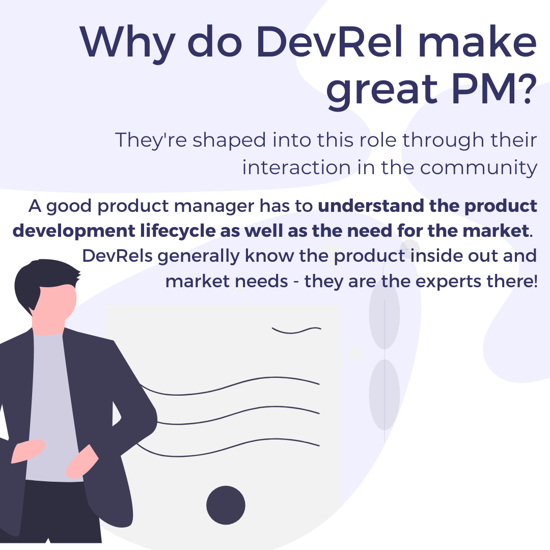 Why do DevRel make great PM? They're shaped into this role through their interaction in the community