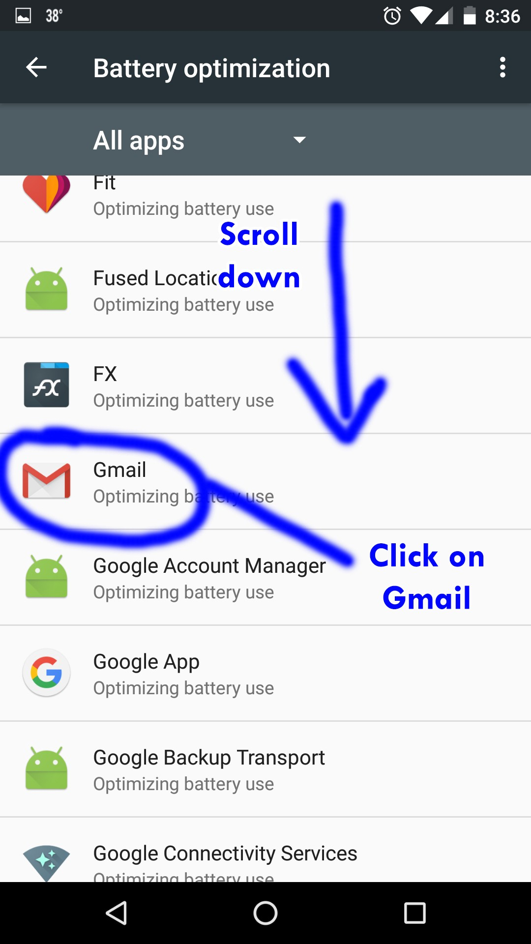 Gmail notifications not working on Android 6 0 1 Marshmallow
