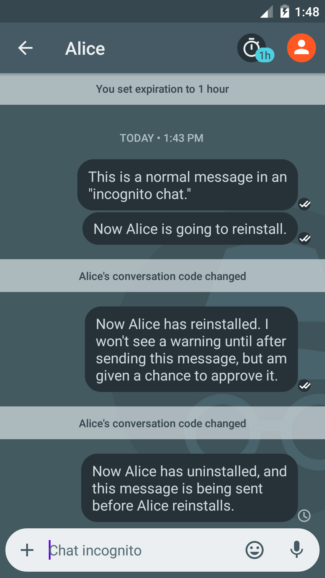A look at how private messengers handle key changes