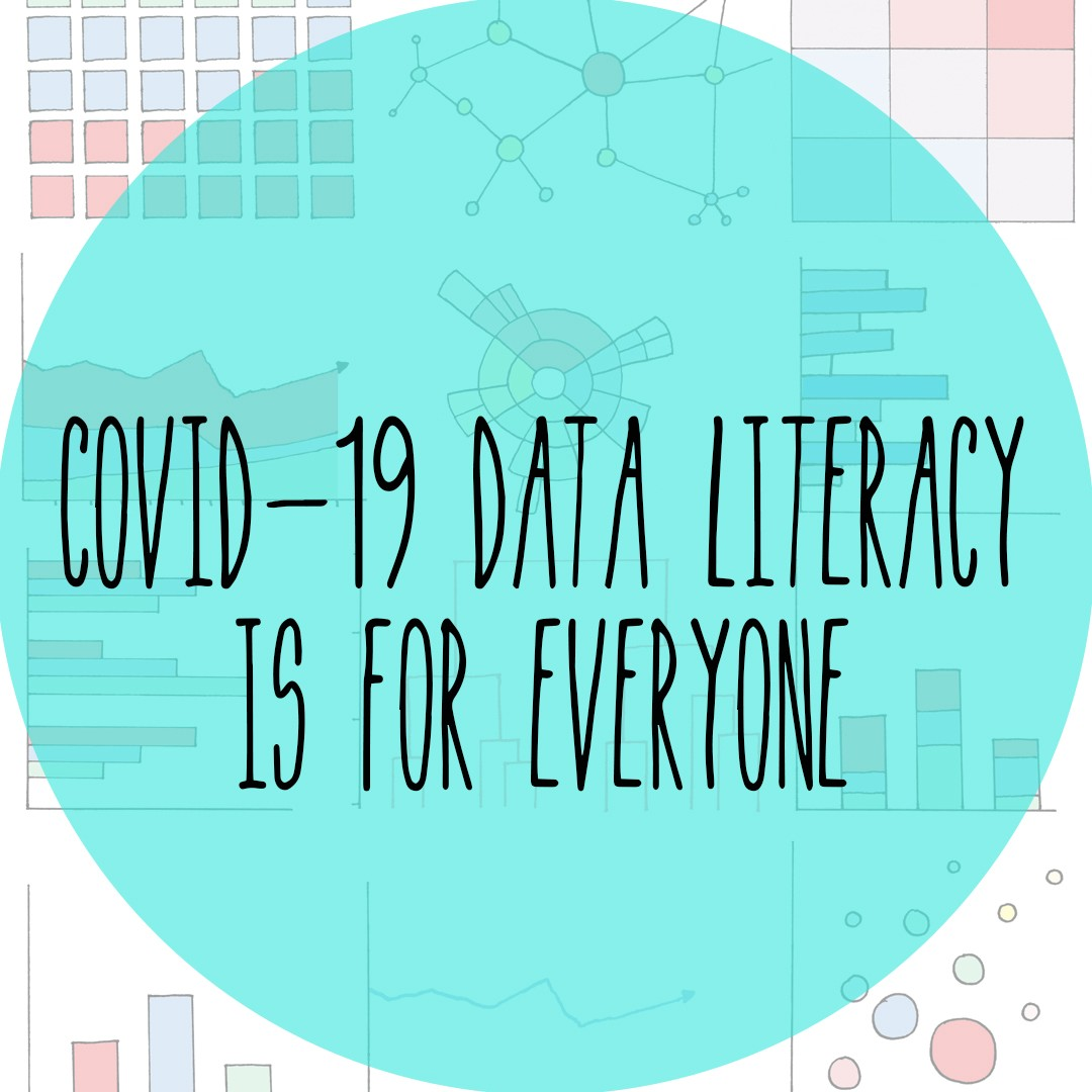COVID-19 Data Literacy is for everyone, comic cover image