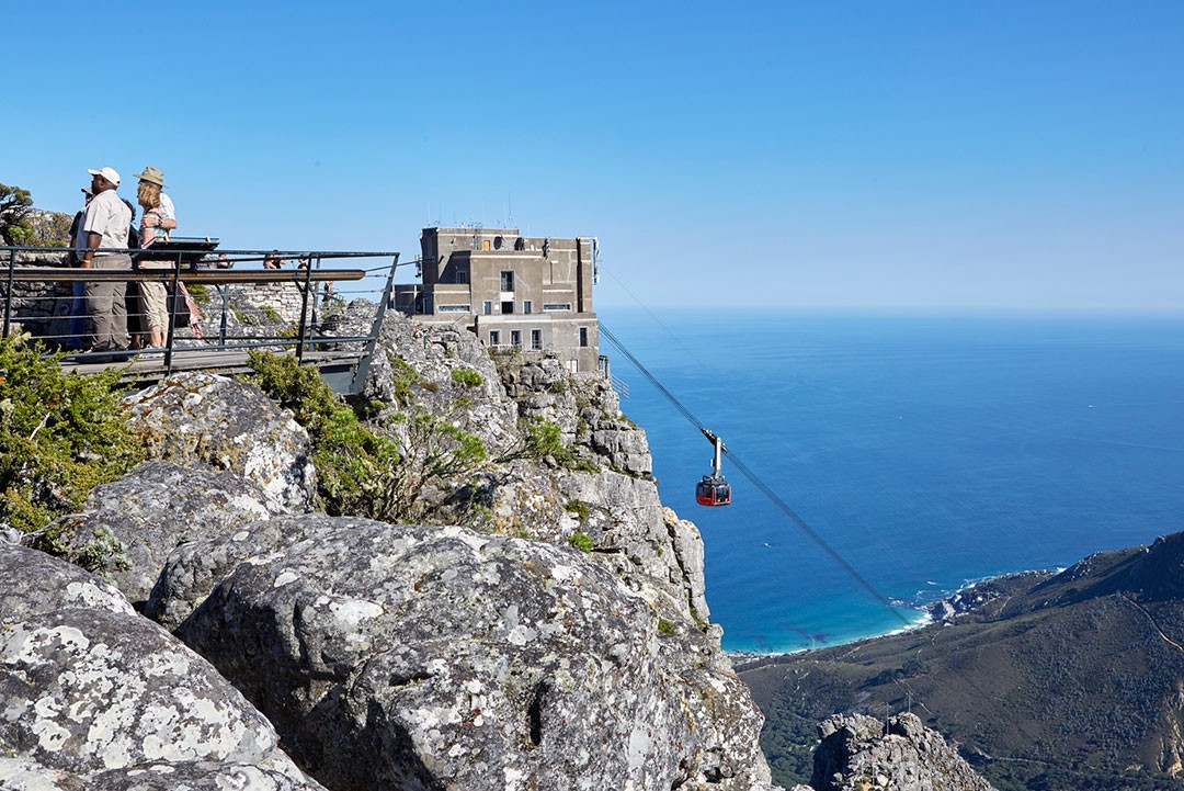 A view of the Table Mountain Aerial Cableway top sation