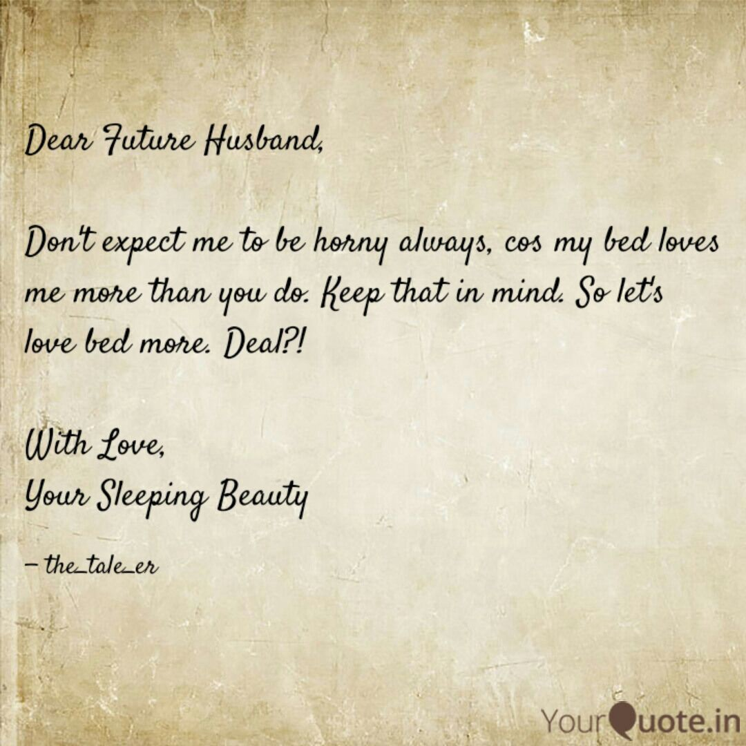 Letter To My Future Husband Poem