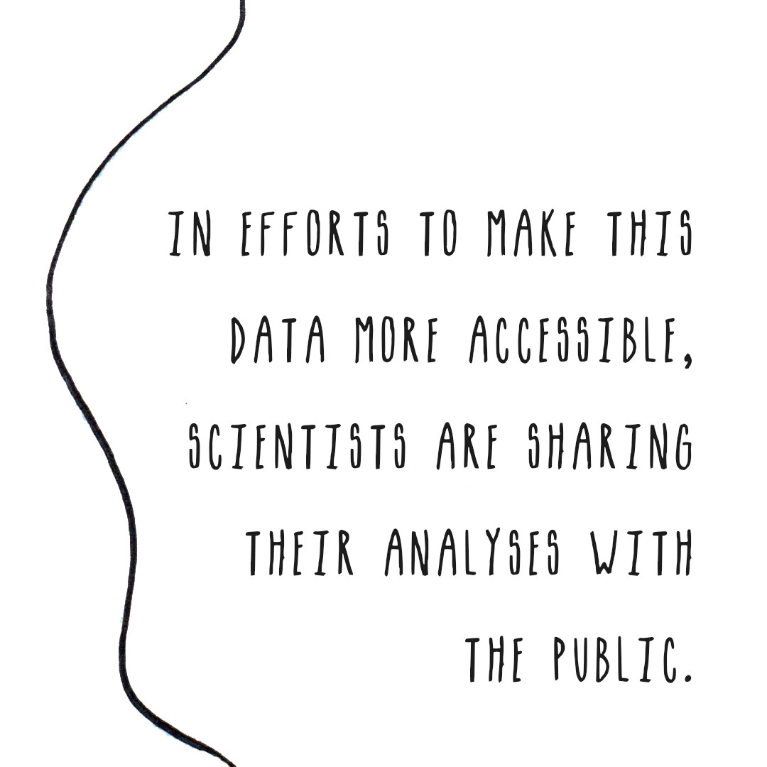 In efforts to make this data more accessible, scientists are sharing their analyses with the public.