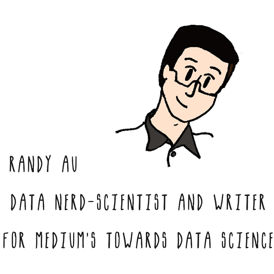 Image of a man with black hair: Randy Au, Data Nerd Scientist and writer for Medium's Towards Data Science Journal.