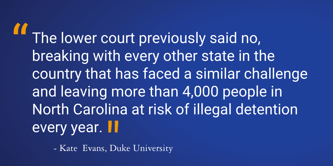 Quote graphic with text excerpt: The lower court previously said no, breaking with every other state in the country..
