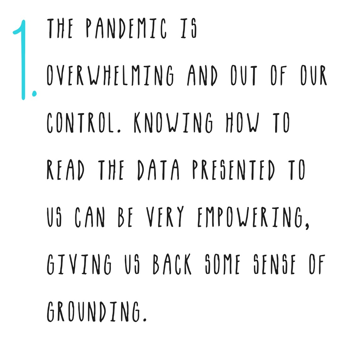 Knowing how to read the data presented to us can be very empowering, giving us back some sense of grounding and control.
