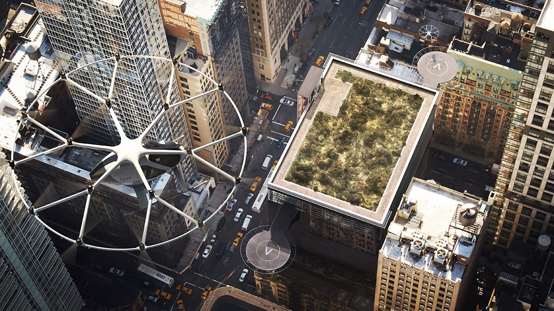 Volocopter flying taxi concept