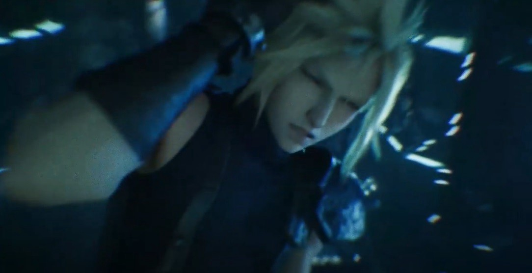 Cloud suffering from one of his many memory-triggering headaches.