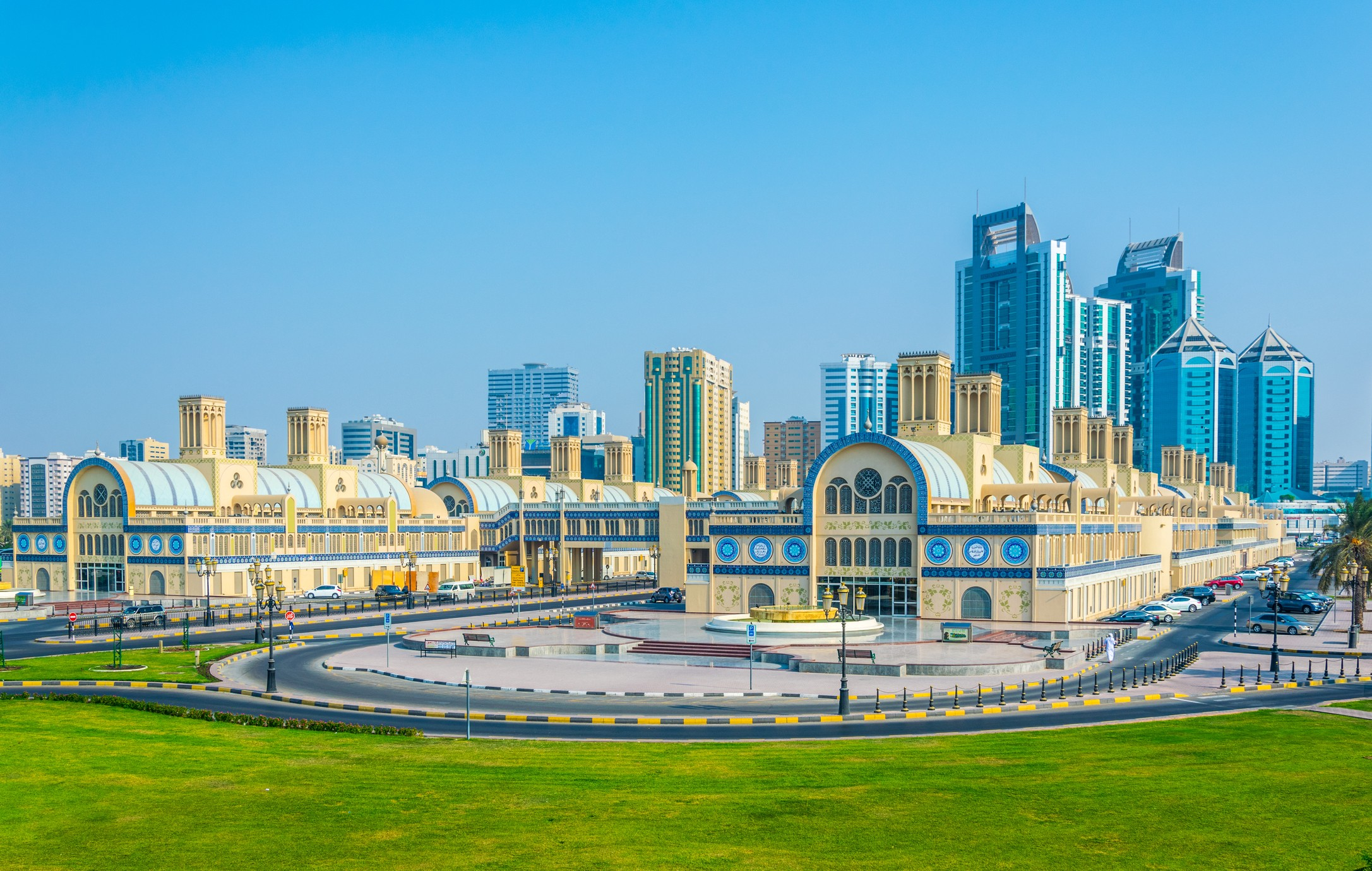 View of the central Souq in Sharjah, UAE
