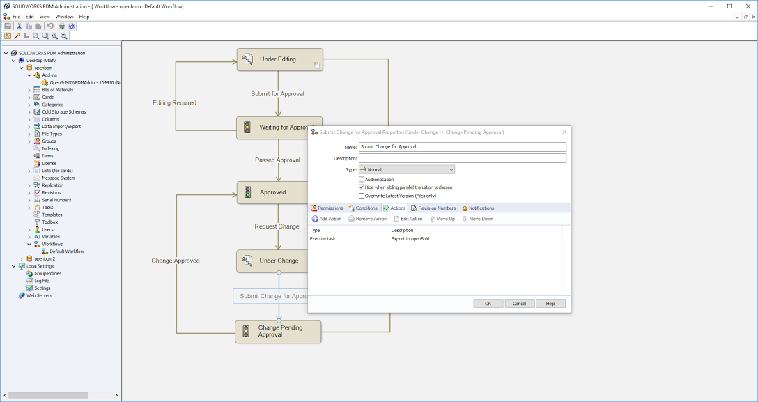 The openBoM SOLIDWORKS PDM Professional Integration is available