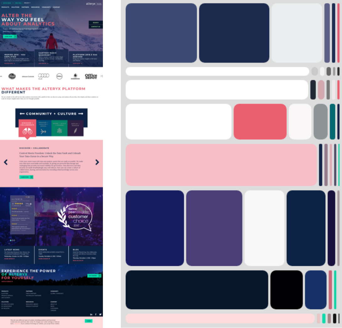 Sliced Color Palettes