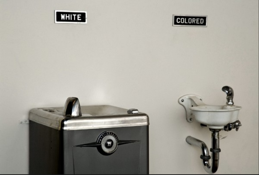 Two sinks, one for whites and for one for 'coloreds'.