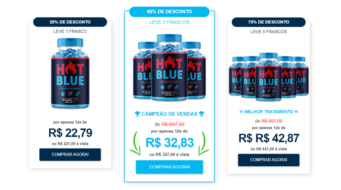 hot blue caps como tomar