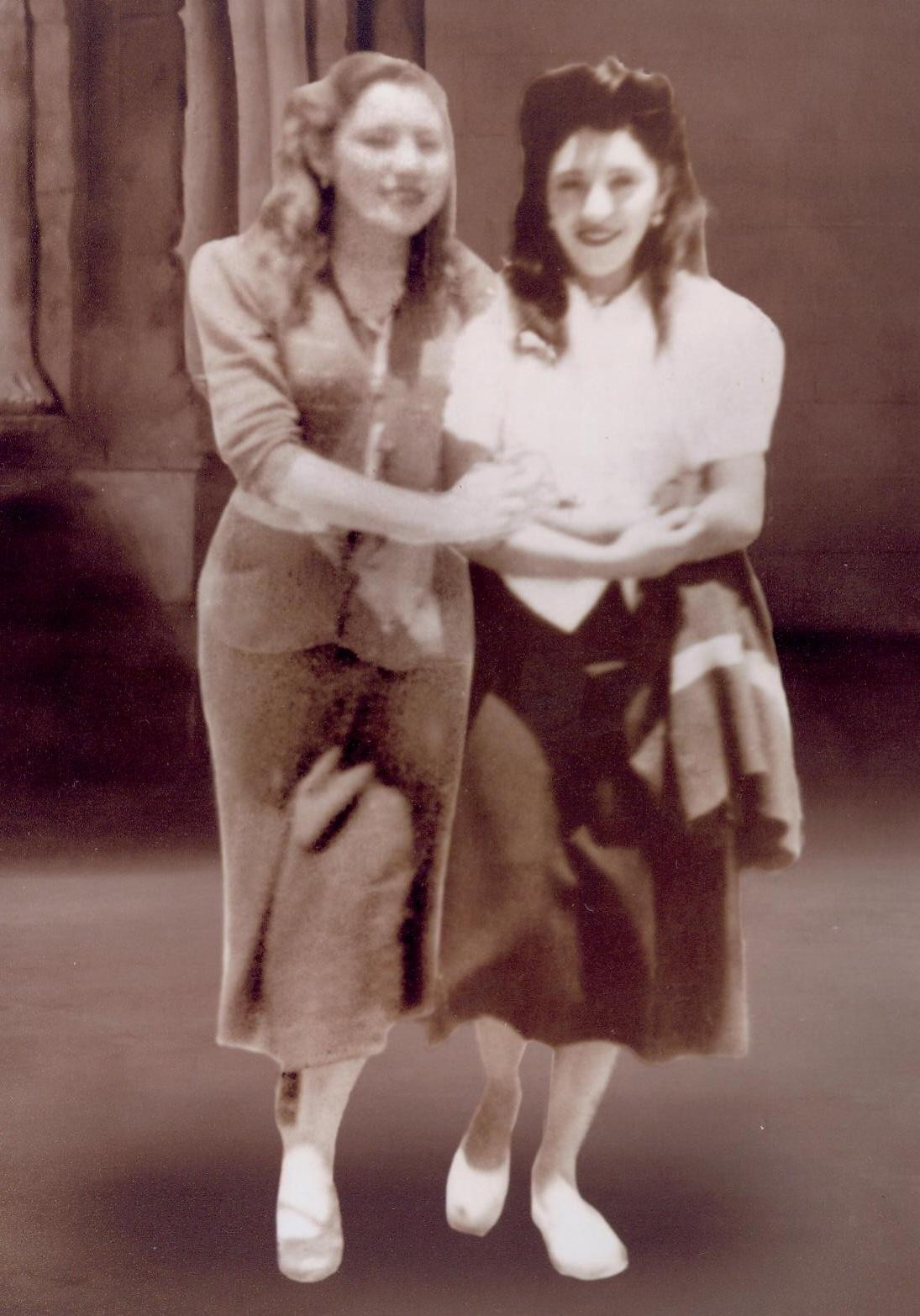 Two young women in the 1940s, Bolivia