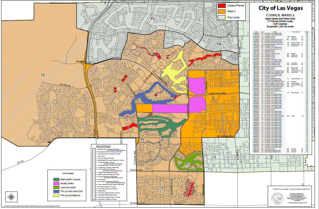 Open Spaces Ordinance Under Consideration By The Las Vegas ... on golf courses in vermont map, golf courses in tucson map, golf courses in indiana map, golf courses in cancun map,