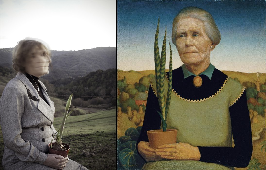 With Grant Wood's 'Woman With Plants'