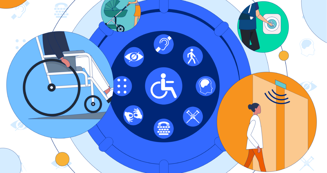 Graphical representation of various sectors of disabled communities and their way of accessing information