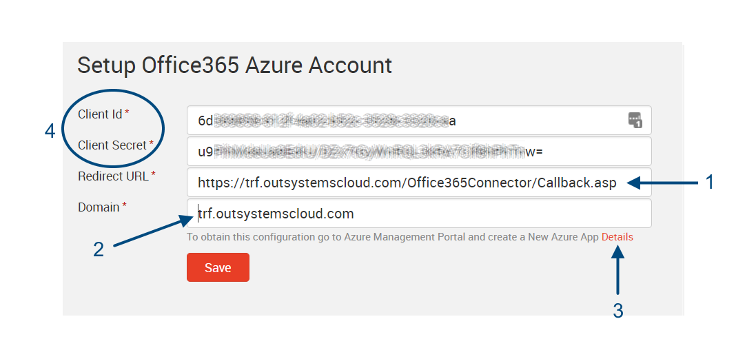 Setting up the Office365connector in OutSystems - Hans
