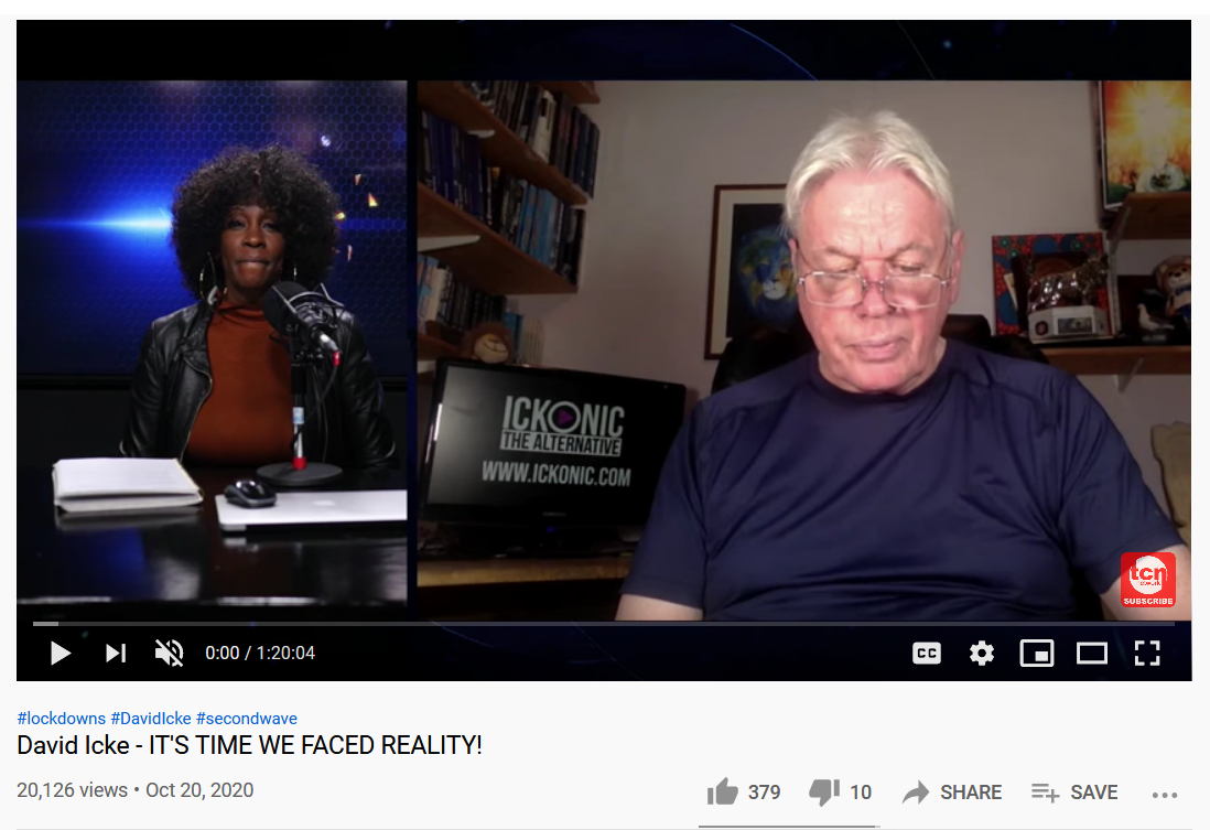 """""""David Icke—IT'S TIME WE FACED REALITY!"""" from Toronto Caribbean Newspaper TV's Youtube channel."""