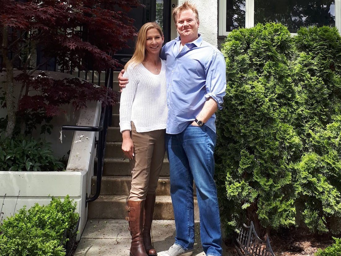 Peter Schink and his wife are seen shortly after moving into their new home in Vancouver, Canada, in 2017.