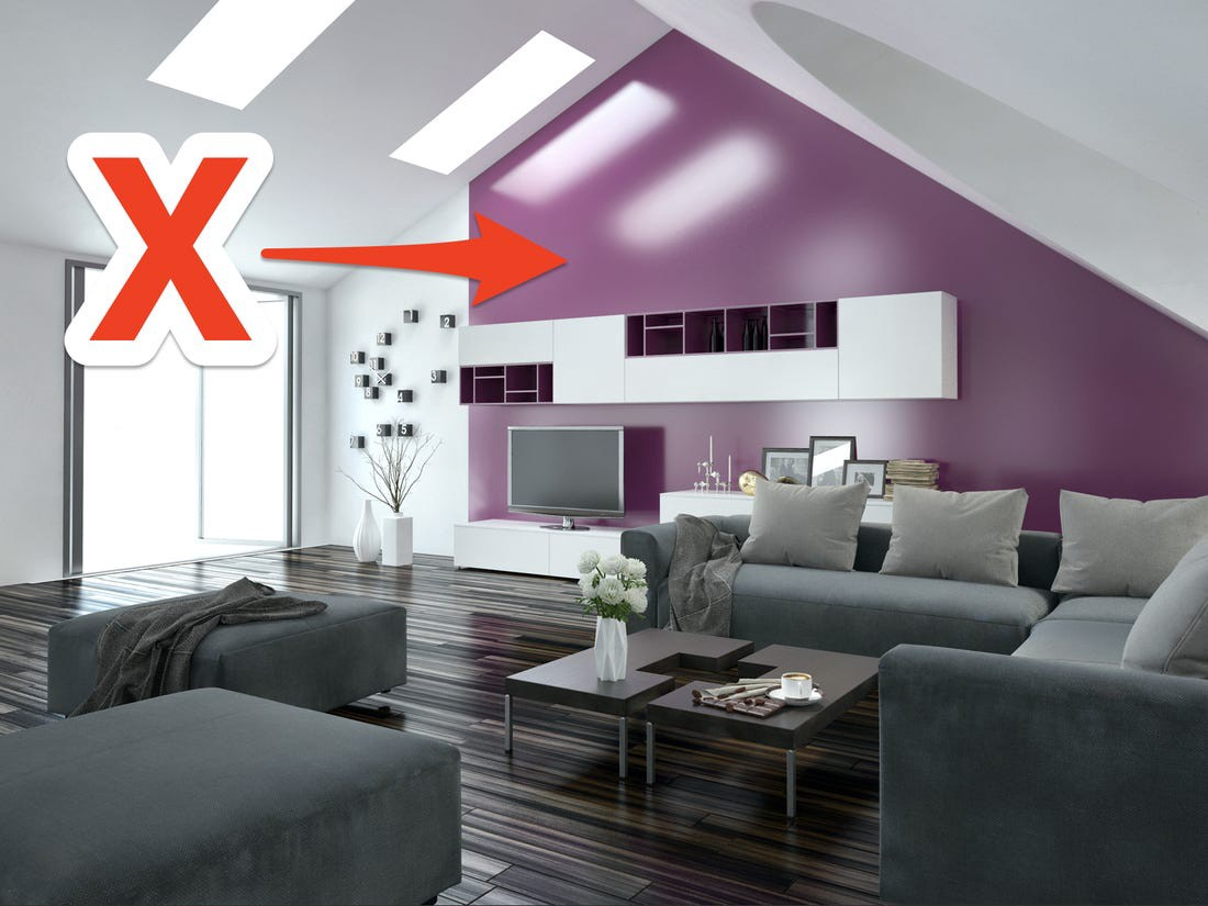 Accent walls can add a pop of color to a room, but they can also be distracting.