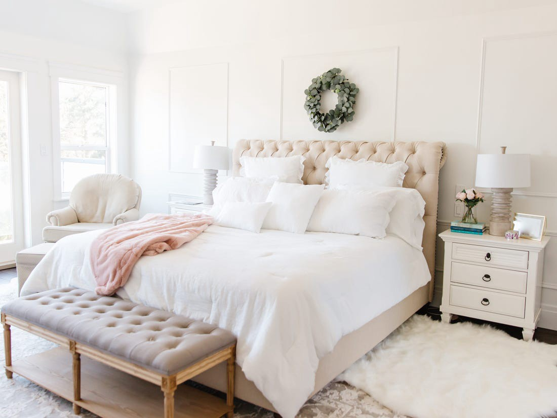 Like all-gray designs, all-white rooms seem to be falling out of favor.