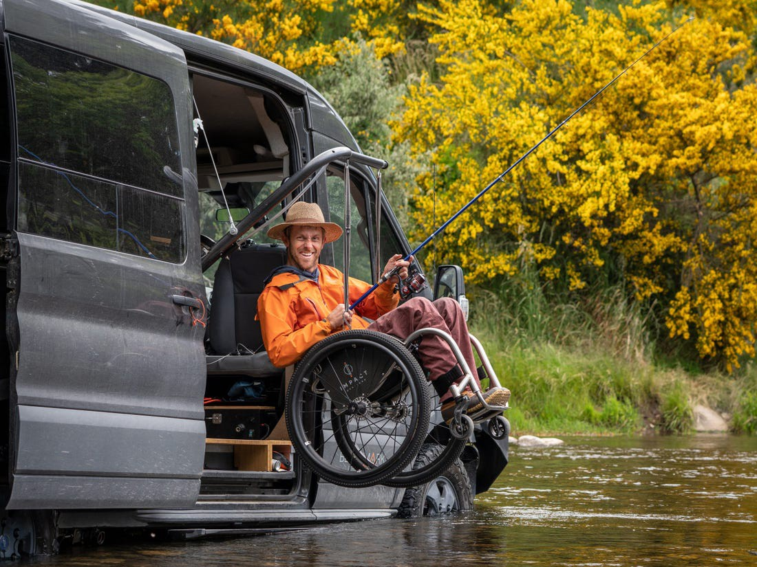 Kirk Williams fishing in Coyhaique, Chile, in 2019.