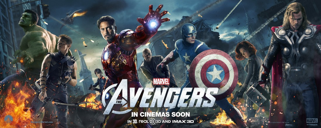 Wide poster for 'The Avengers'