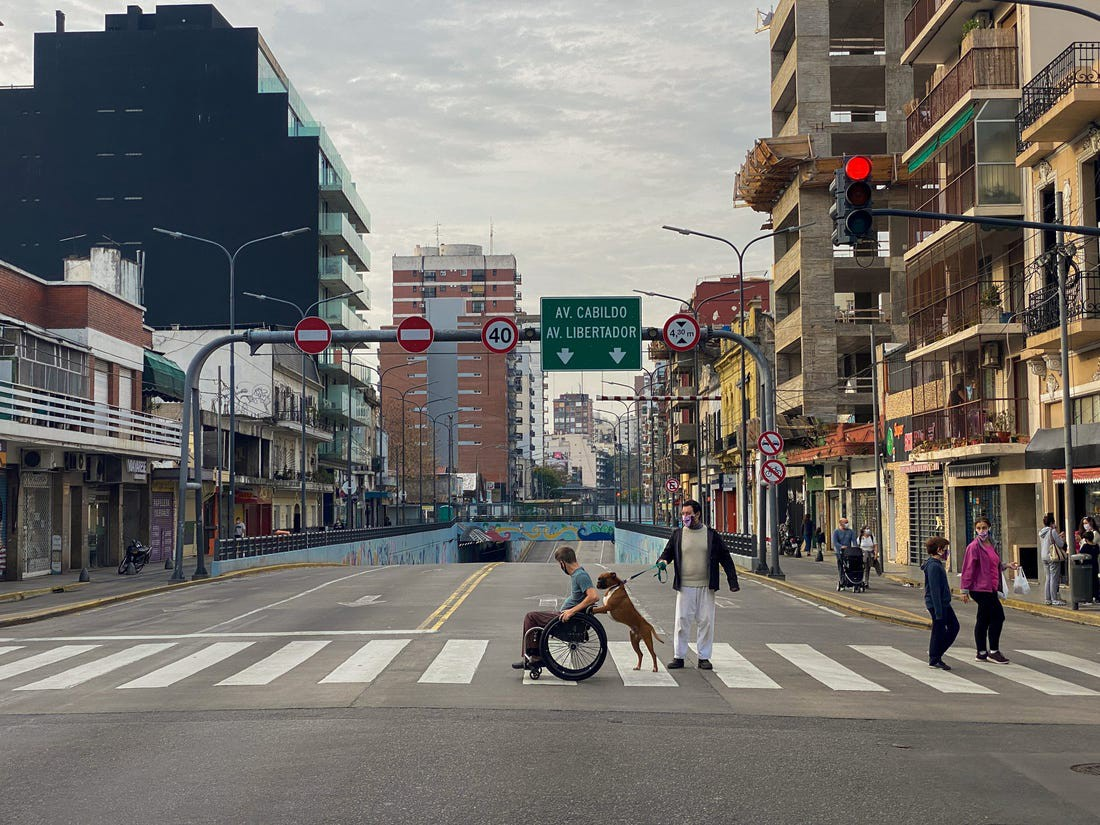A picture of Kirk Williams in the streets of Buenos Aires, Argentina, in 2020.