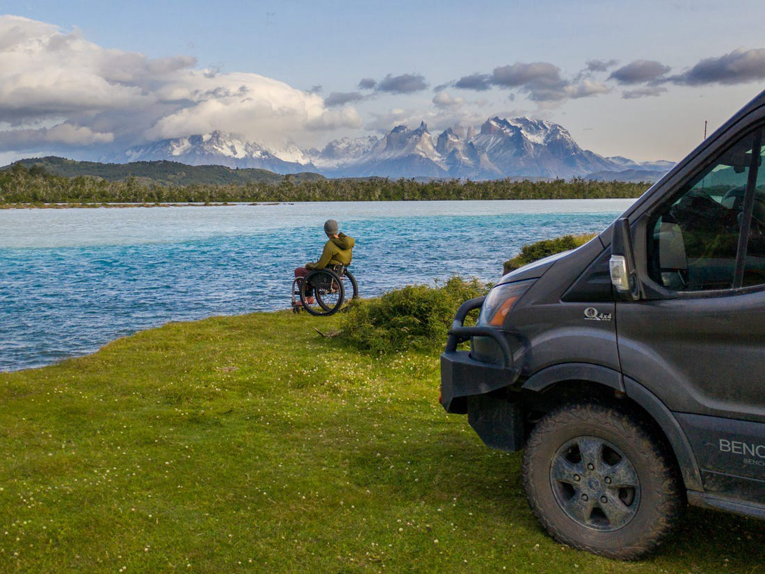 Kirk Williams admiring the views at Torres del Paine, Chile, in 2020.