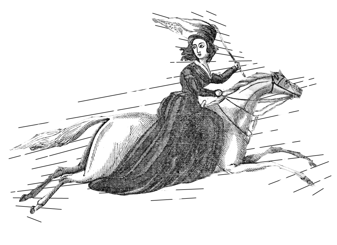 The horse thief escapes, from The Female Prisoner, 1839