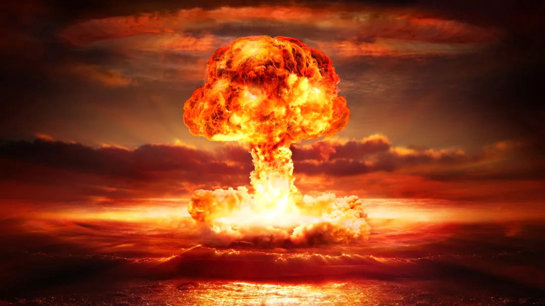 Nuclear bomb exploding