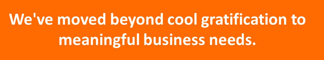 """A quote from Igor Bergman of Lenovo that says, """"We've moved beyond cool gratification to meaningful business needs."""""""