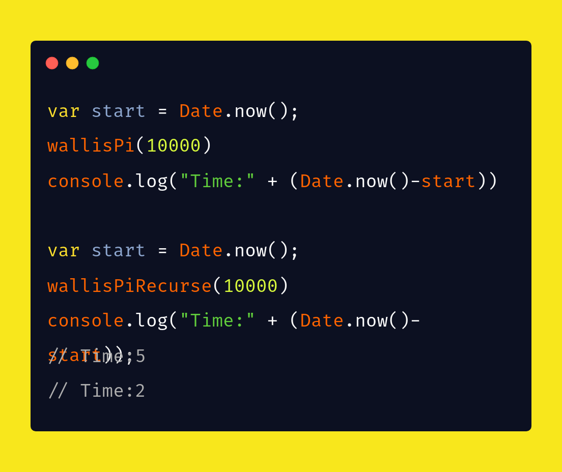 Recursion in JavaScript — Call a smaller version of you