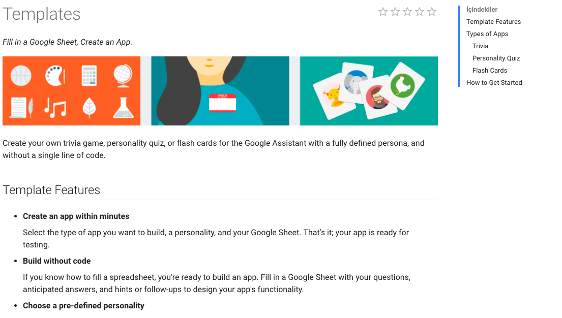 Create a zero coded app with the help of Google Actions